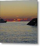 Sunset Cruise At Cape May Metal Print