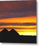 Sunset Death Valley Rectangular Img 0283 Metal Print