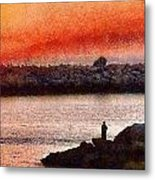 Sunset Dinner Metal Print