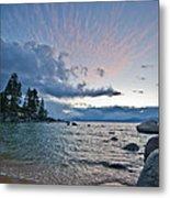 Sunset Drama At Tahoe Metal Print