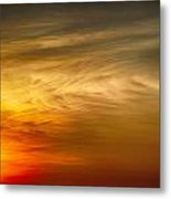 Sunset Feather Clouds Metal Print