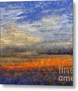 Sunset Field Metal Print