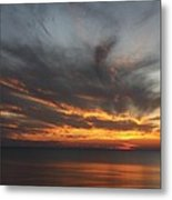 Sunset Fiery Sky Metal Print