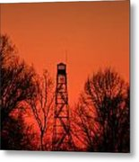 Sunset Fire Tower In Oconee County Metal Print