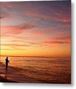 Sunset Fishing 2  Metal Print