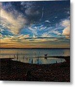 Sunset Fishing  Hot Dogggg Metal Print