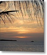 Sunset Fishing Metal Print by Susan Sidorski
