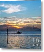Sunset Fishing Metal Print by Tammy Smith