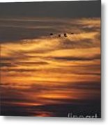 Sunset Flyby Fulton Texas Metal Print