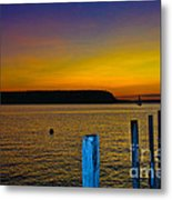 Sunset From Andersons Dock Metal Print