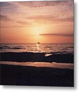 Sunset From Clearwater Beach Metal Print