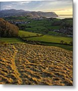 Sunset From Nant Y Gamar Metal Print