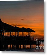 Sunset From Pelican Pier Metal Print