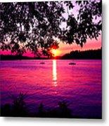 Sunset From Point Fosdick Gig Harbor Washington Metal Print