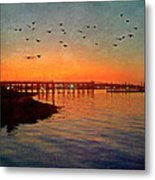 Sunset From Quincy Ma Metal Print