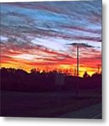 Sunset From Tellico Plains Metal Print
