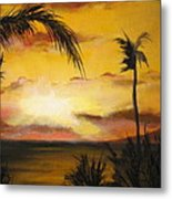 Sunset from the balconey Metal Print