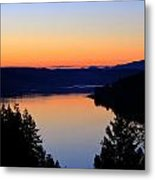 Sunset From The Deck Metal Print