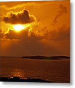 Sunset From The Dolphin Watch Cottage Metal Print
