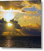 Sunset From The Mumbles Metal Print