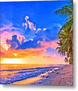 Sunset Glow On The Kona Coast Metal Print