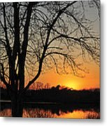 Sunset Glow Toms River New Jersey Metal Print
