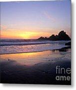 Sunset Gold Big Sur Metal Print