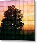Sunset Grid 2 Metal Print