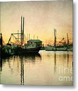 Sunset Harbor Glow Metal Print