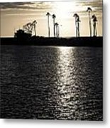 Sunset House Metal Print