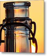 Sunset In A Bottle Metal Print