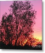 Sunset In April- Silute Lithuania Metal Print