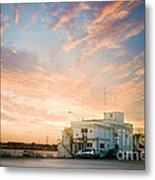 Sunset In Bari Metal Print