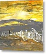 Sunset In Benidorm Metal Print