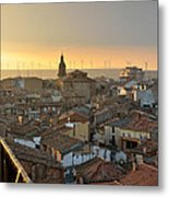 Sunset In Calahorra From The Bell Tower Of Saint Andrew Church Metal Print