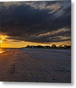 Sunset In Cape May Along The Beach Metal Print