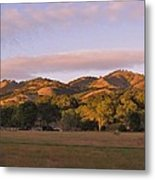 Sunset In Carmel Valley California Metal Print
