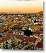 Sunset In Cavaillon Metal Print