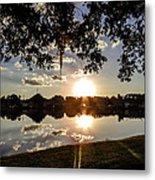 Sunset In Florida Metal Print