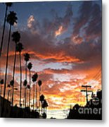 Sunset In Hollywood Metal Print