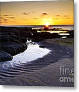 Sunset In Iceland Metal Print