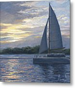Sunset In Key West Metal Print by Lucie Bilodeau