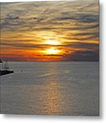 Sunset In Koper Metal Print