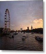 Sunset In London Metal Print