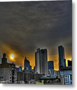 Sunset In Manhattan's Lower East Side Metal Print