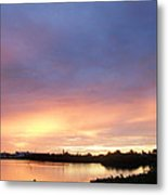 Sunset In Marathon Key Metal Print