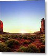 Sunset In Monument Valley Metal Print