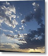 Sunset In New Mexico Metal Print