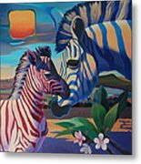 Sunset In Ngoro Ngoro Metal Print