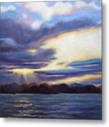 Sunset In Norway Metal Print